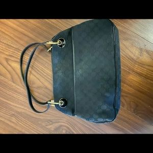 Authentic Gucci classic black handbag